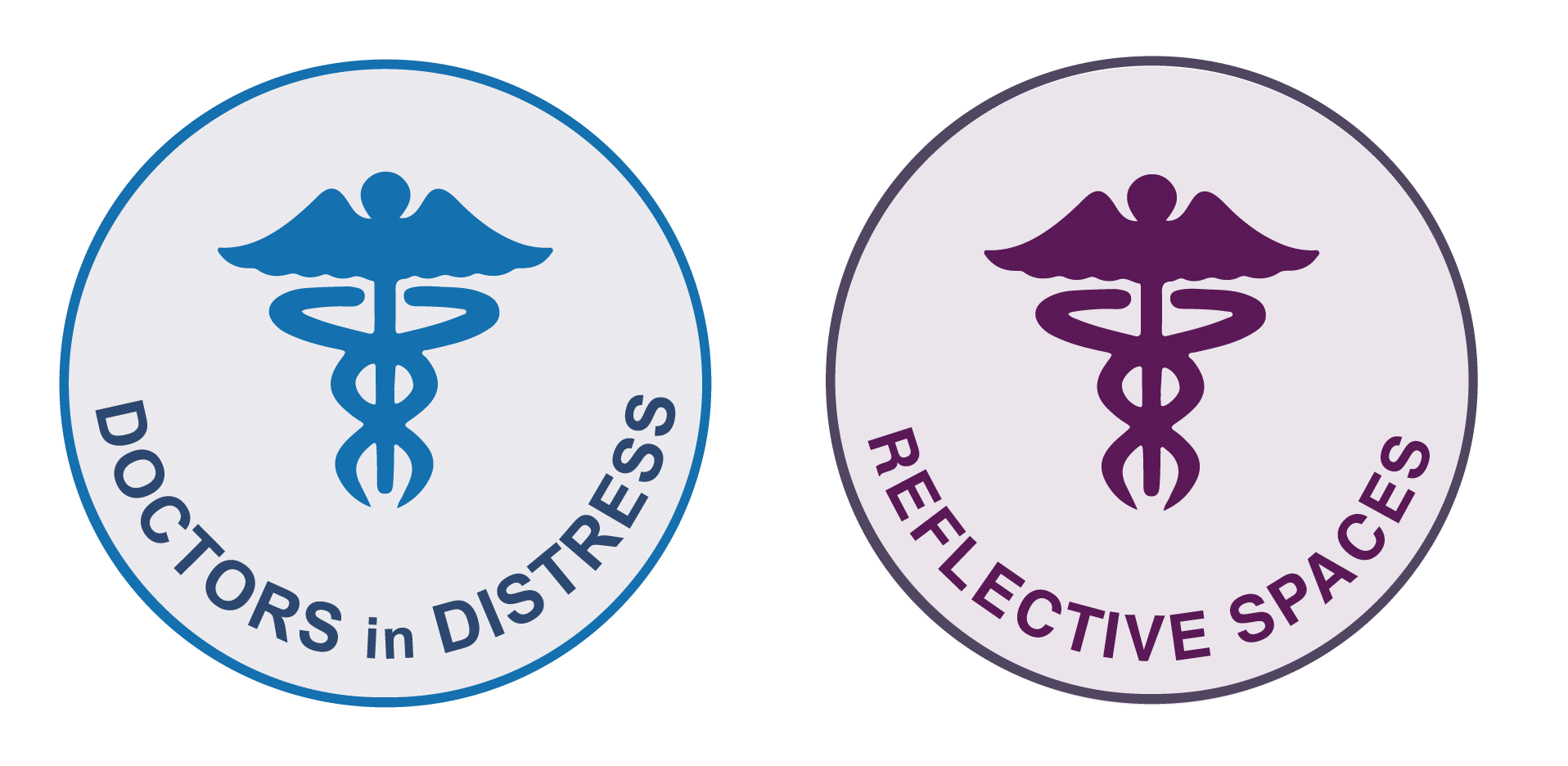 doctors in distress and reflective spaces logo